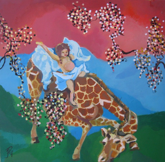 Korkea ratsu, The High Riding Horse 2007  40 x 40 cm	  akryyli / acrylics