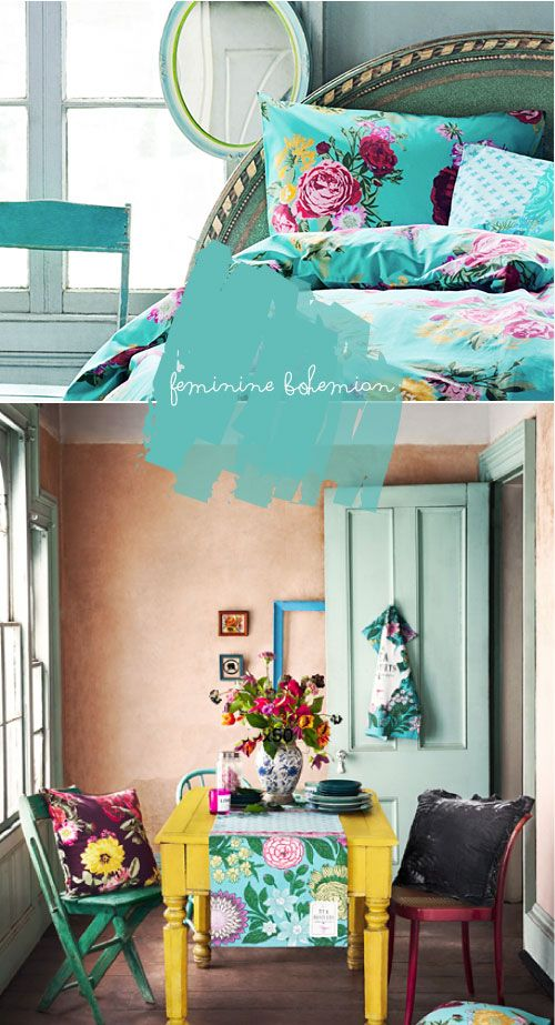 HM new home wares line. Love the feminine bohemian color scheme and prints. (only in the UK for now, US soon) via Poppy talk