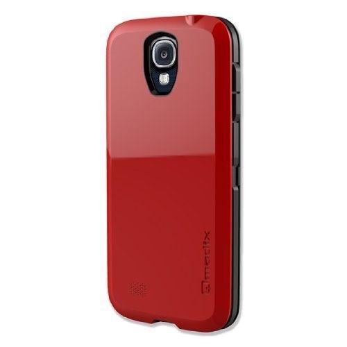Qmadix Samsung Galaxy S4 S Case - Red / Black - Samsung Galaxy S4 Case, Cover