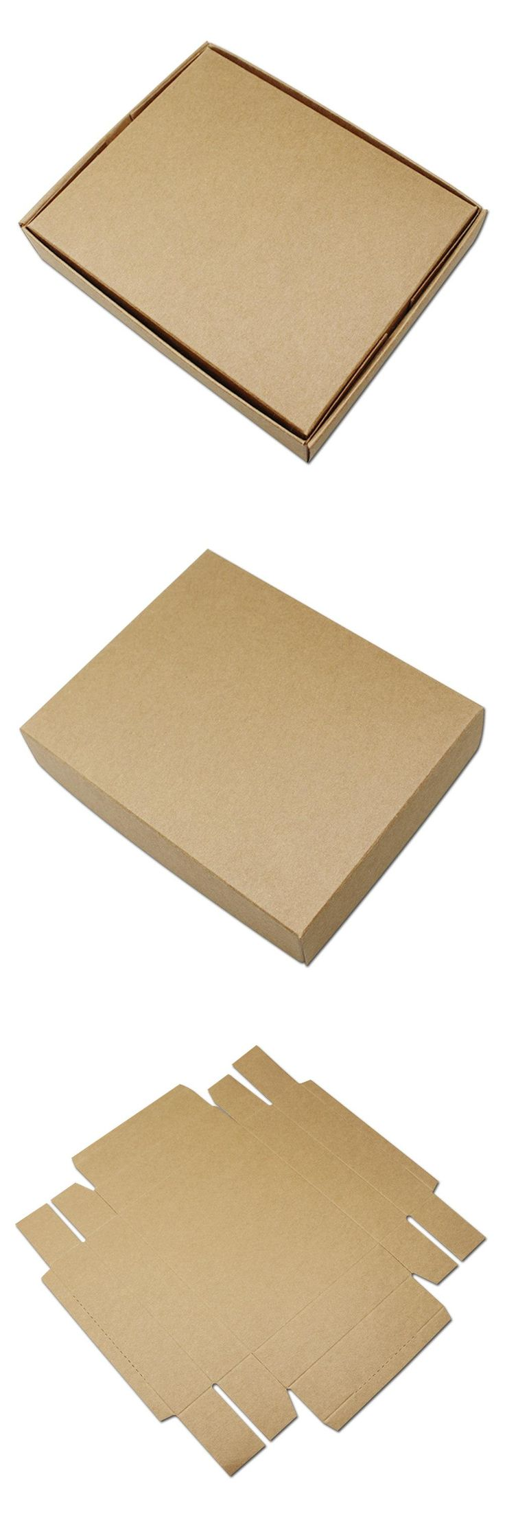 Craft containers with lids -  Visit To Buy 22 9 4 5cm Vintage Brown Kraft Paper Box