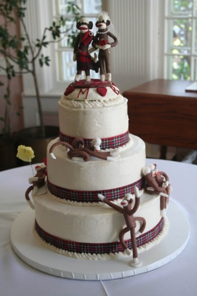 vegan wedding cakes scotland vegan scottish sock monkey wedding cake by 21570