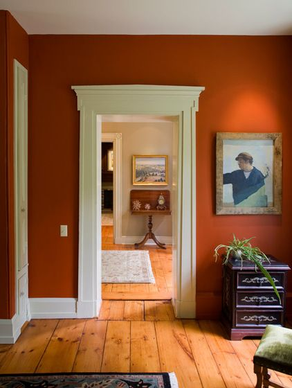 Best 25 burnt orange paint ideas on pinterest burnt - Burnt orange feature wall living room ...