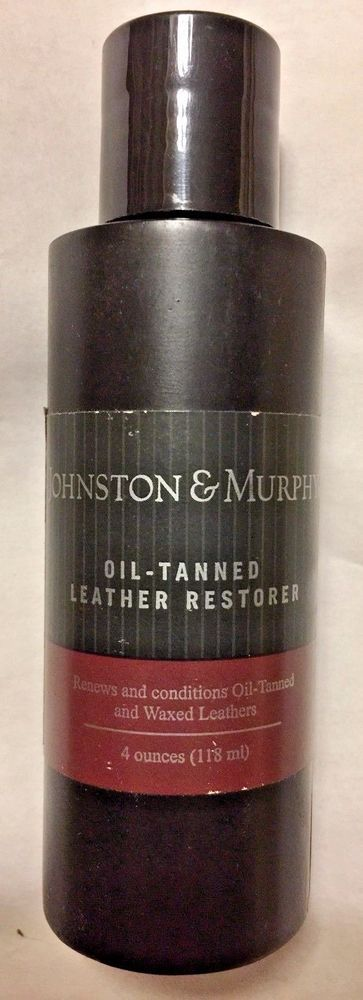 JOHNSON AND MURPHY OIL TANNED LEATHER RESTORER RENEWS & CONDITIONS 4OZ. #JohnsonandMurphy