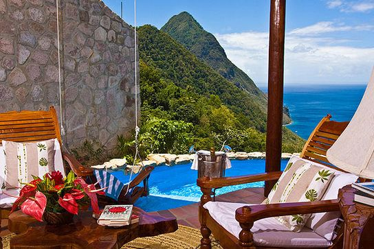 The lovely Ladera Resort in St Lucia www.travelcounsellors.co.uk/clarebullock