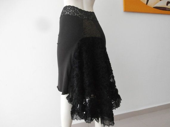 Tango Lace Cascade Skirt fits 2 and 4  Dancewear by COCOsDANCEWEAR