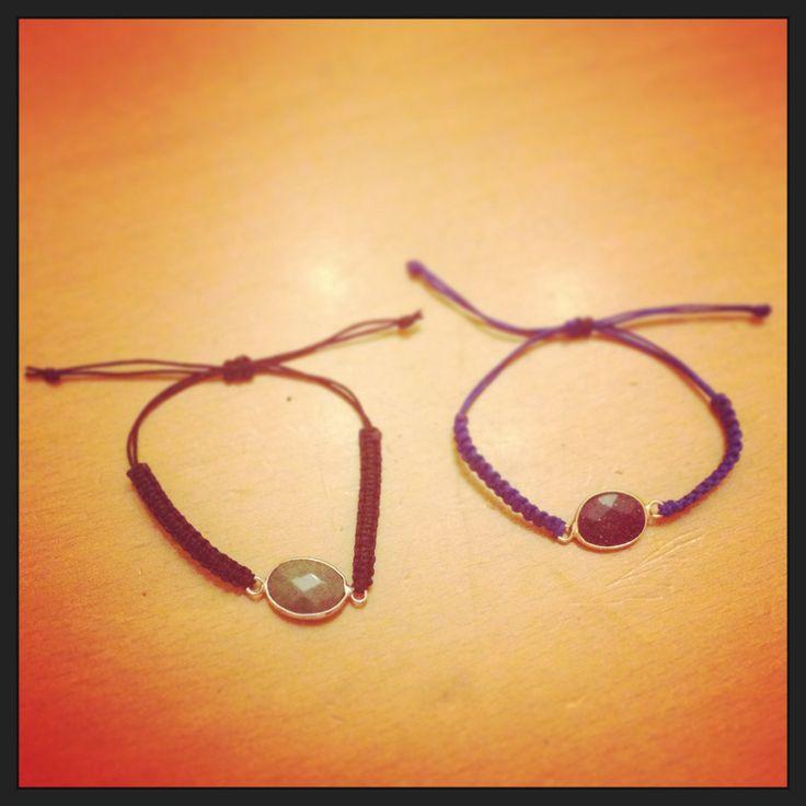 Semi precious gemstone bracelets  #hand_made