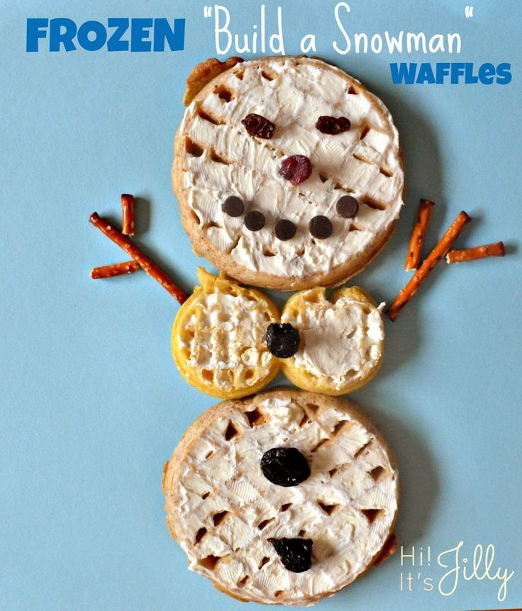 "Frozen ""Build a Snowman"" Waffles #FROZENfun"