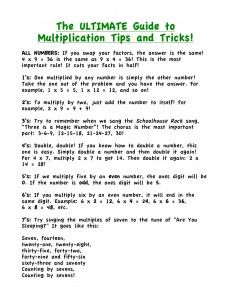 The Ultimate guide to multiplication tips and tricks!