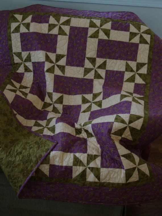 Pinwheels Scrap Quilt Quilts Scrappy Quilts Purple Quilts