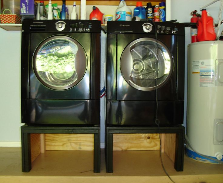 We all know washer and dryer pedestals are VERY expensive and are ridiculously priced. You can certainly buy another washer for the price of the two pedestals; or perhaps a new refrigerator! This instructible shows you how to make yourself a cheap pedestal or stand for your washer and dryer. The advantages of having a pedestal or stands for your dryer and washer is that you eliminate the need to bend over to pick up your laundry. Also you can place items under the pedestal such as soap…