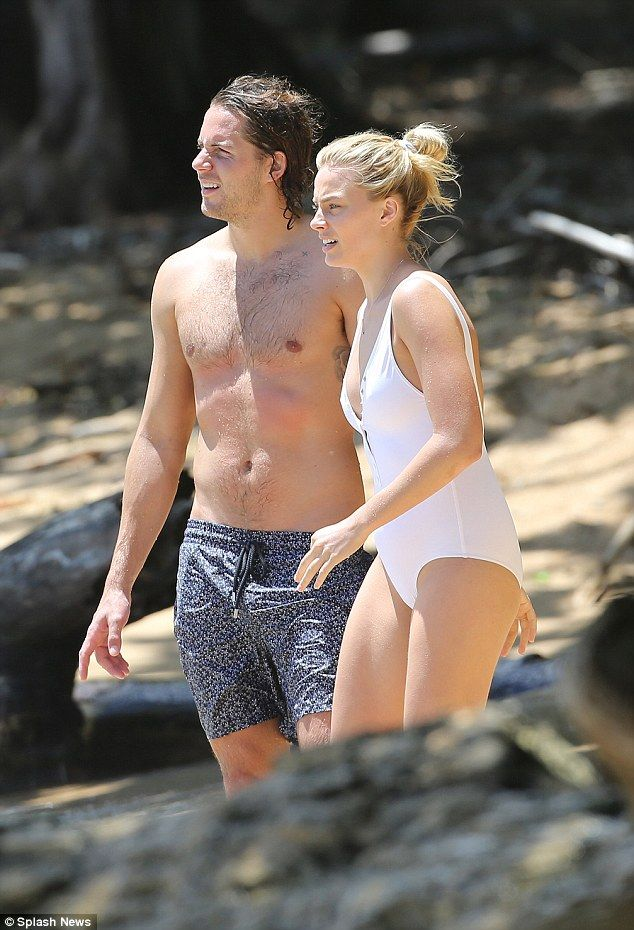 Just the two of us: She was joined byboyfriend Tom Ackerley...