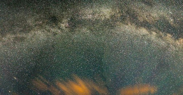Starstruck III: First attempt at a Milky Way panorama, think it turned out okay! Especially compared to the first photo I posted 62 weeks ago..  Also, so happy for the snow that just fell on #yeg.  #15
