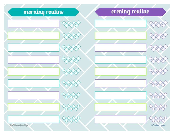 free printable to help plan morning and evening routines from ScatteredSquirrel.com
