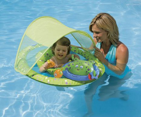 SwimWays Spring #Baby Float Water Center With Canopy