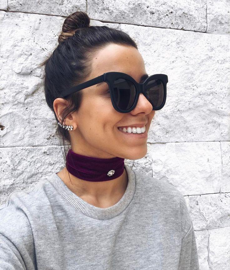 """1,087 curtidas, 21 comentários - Fernanda Guimarães (@feguimaraess) no Instagram: """"mil razões para sorrir! ✨ {curtiram a choker de veludo mais grossa?! acho linda com o cabelo preso!}"""""""