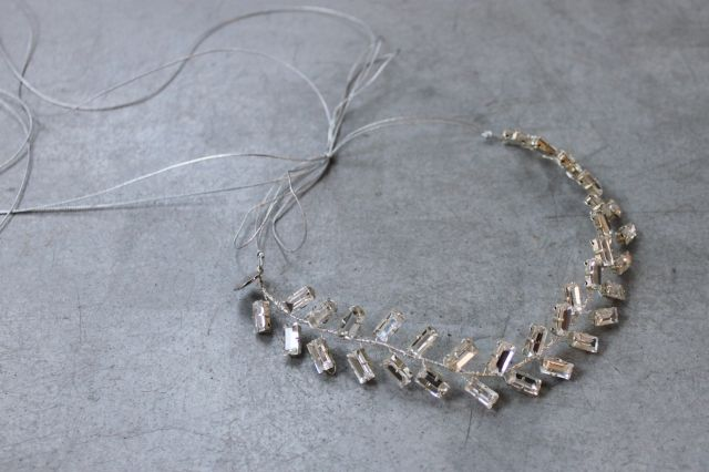 Decolove Icicle Bridal Tiara handcrafted from silver crystals