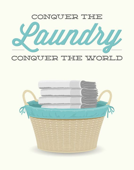 Laundry Room Decor Print Conquer the laundry conquer by noodlehug