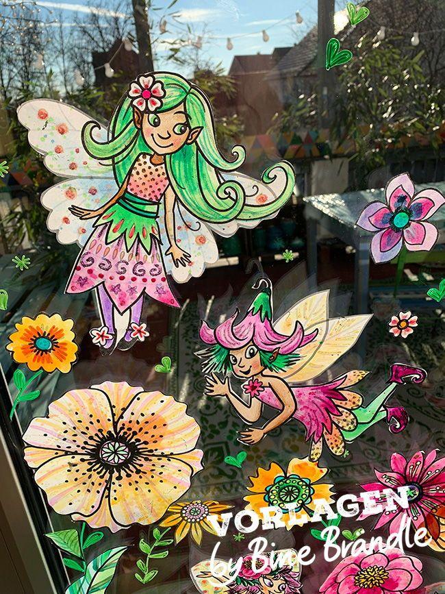 Zauberhafte Feen Elfen Und Bluten Zum Selber Basteln Und Bemalen Begrusse Den Fruhling Mit Diesen Zauberhaft Blumenregen Do It Yourself Basteln Selber Basteln