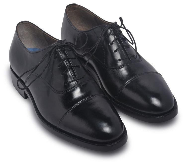 Men Black Oxford Formal Genuine Leather Shoes