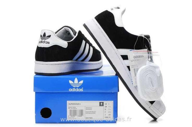 Adidas Superstar II Hommes Blanc Noir Adidas Superstar Enfant