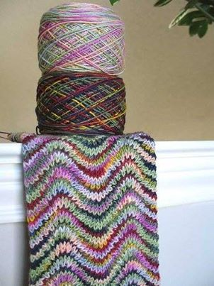 Looks like this would make a gorgeous afghan too!