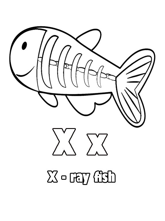 X ray fish coloring page coloring home pages