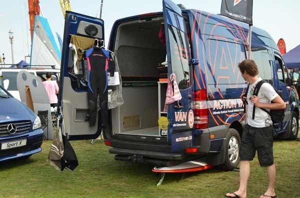 Sprinter Van With Aluminess Roof Rack And Ladder Homesweetvan