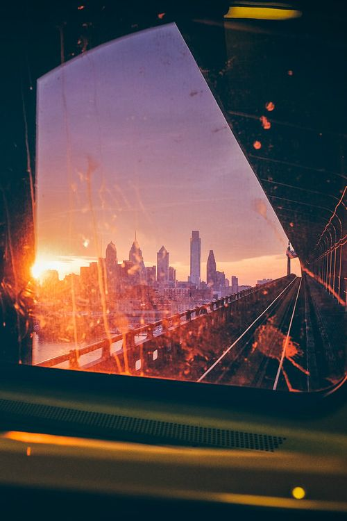A little city view on the Train, Sunset, Enjoy the moment, enjoy life