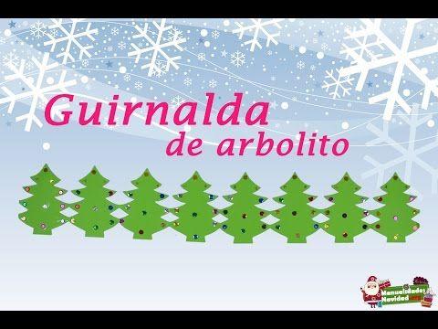 Navidad: Guirnalda Navideña En Forma De Arbolitos Navideños...