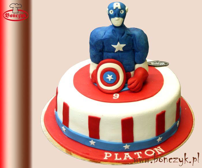 #KapitanAmeryka; #CaptainAmerica; #cake; #tort; www.bonczyk.pl