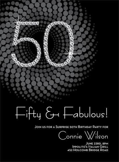 74 best images about glitz and glam birthday invitation – 50 Th Birthday Invitations
