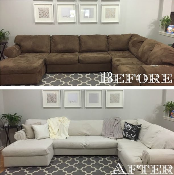 How To Revive An Old Sofa Inspiring Makeovers Sectional Couch
