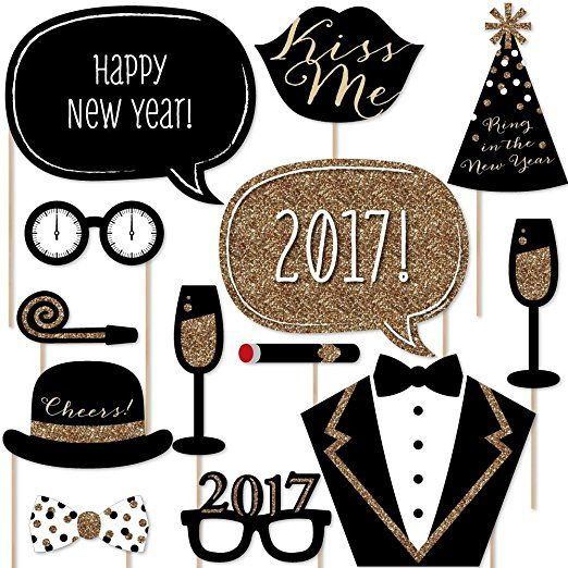 #New #Years #Eve #Party - Gold - #Photo #Booth #Props Kit  #vcmblog #amazon #affiliate #photography