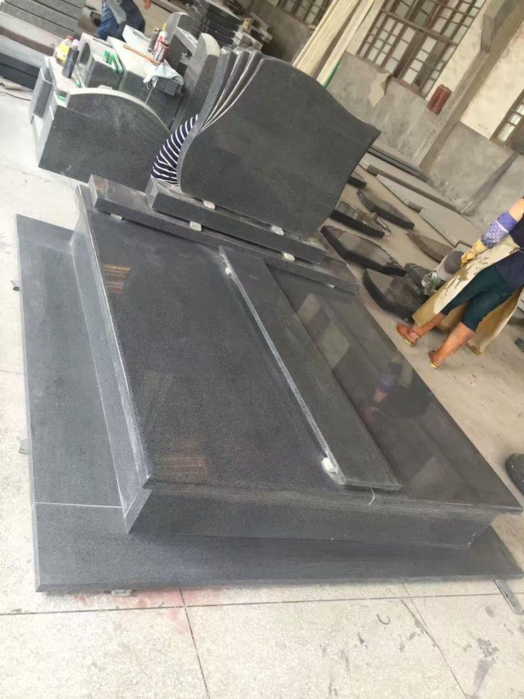 Black Granite Cross Headstone, tombstone prices, gravestone prices, tombstones for sale