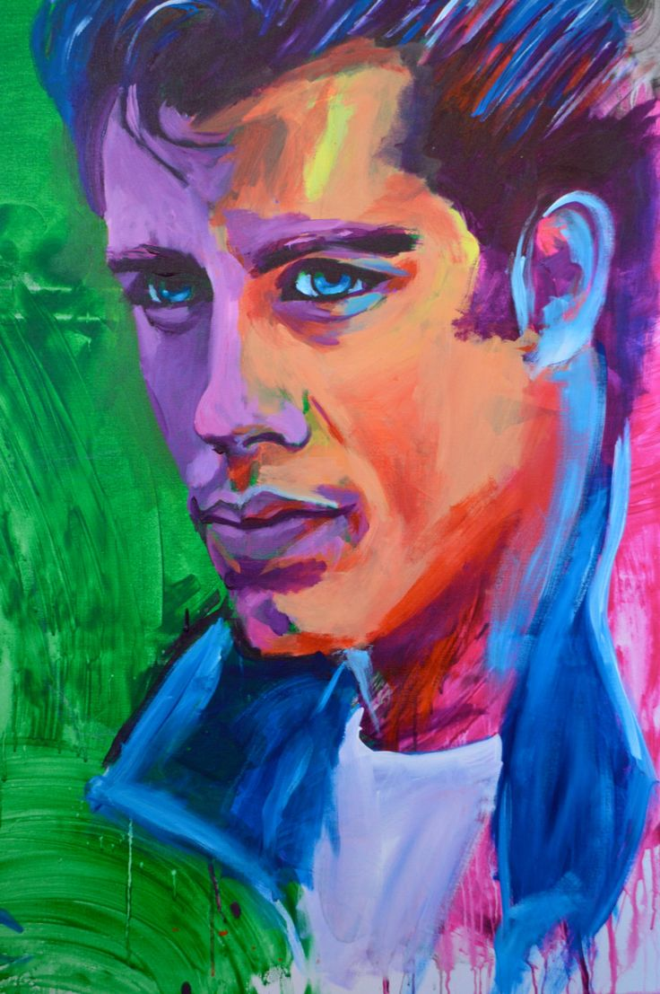Color art printing anchorage - John Travolta 12 X18 Grease Portrait Giclee Poster Artist Print Wall Art Colorful Abstract Pop Art