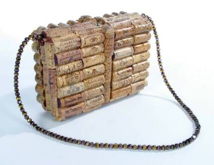 wine cork purse - could be a DIY as well!
