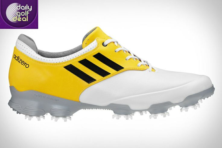 Today's Deal 20/3/14: Adidas Adizero Tour Golf Shoes – White & Yellow – Only £45 – Saving 65% http://www.dailygolfdeal.co.uk/deals/deals/adizerotour/