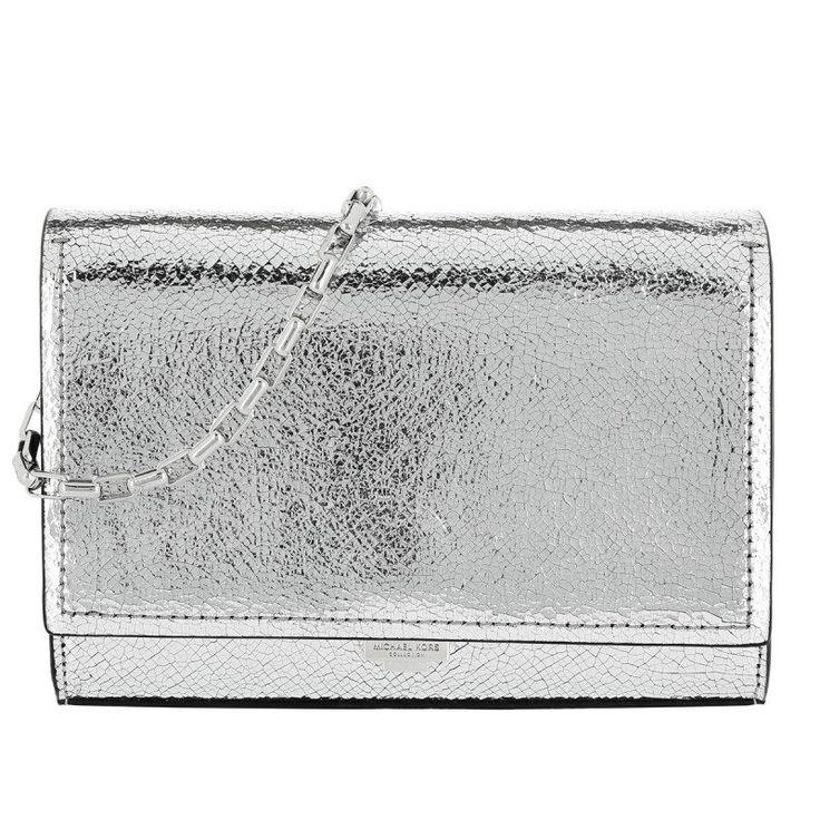 Michael Kors Collection Michael Kors Collection Tasche – Yasmeen Clutch Silver – in silber – Umhängetasche für Damen