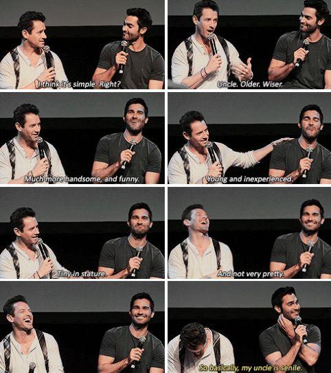 Simplifying Peter and Derek's relationship at WereWolfCon.