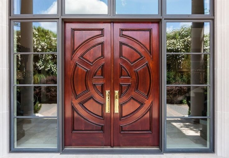 Asian front door with exterior stone floors transom - Exterior doors that open to the outside ...