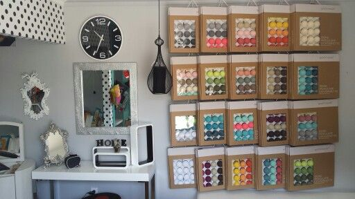 The cotton balls collection by good moods* in our showroom. You are welcome but we send worldwide, www.h-design.pl