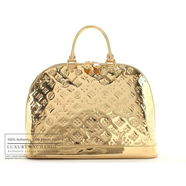 b9a94668242e LOUIS VUITTON - Authentic Louis Vuitton Gold Mirror Miroir Alma Bag -... ❤