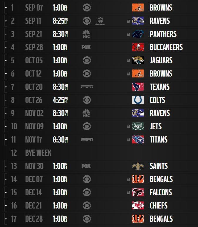 Steelers 2014 Schedule Released #STEELERS