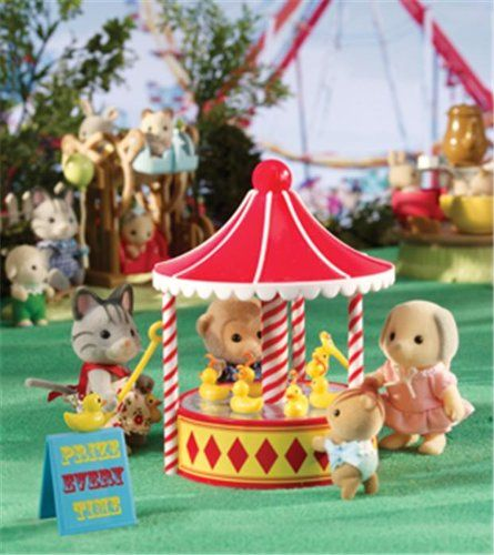 Amazon Com Calico Critters Hook A Duck Carousel Toy