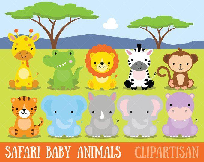 Valentine Animals Clipart Love Graphics Digital Art Etsy Baby Wild Animals Safari Baby Animals Animal Clipart