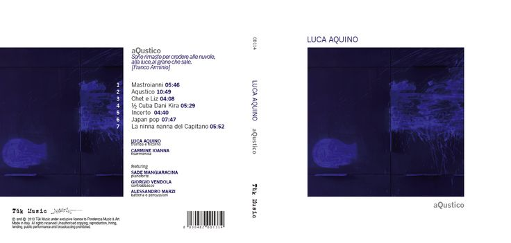 Graphic Designs for TUKMUSIC - CD Luca Aquino - aQustico