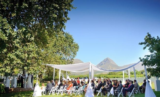 20 Garden Outdoor Wedding Venues Cape Town And