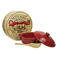 Brie Baker (Cuiseur a Brie) - Red  Exquisitely packaged with fond recollection of the French countryside, Petite Maison continues to set the standard by which all other Brie Bakers are measured.