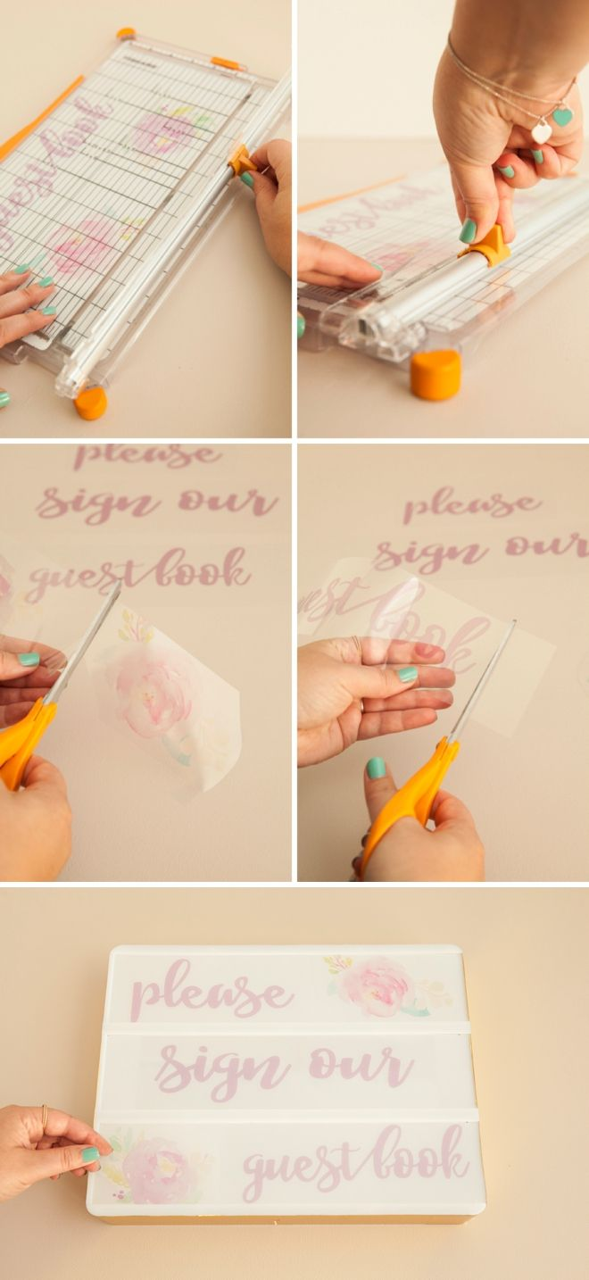 Crafting memorable wedding décor just got even more fun with these DIY lightbox signs. Something Turquoise has even provided free printable message templates to get you started!