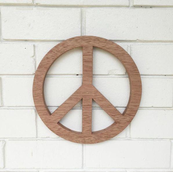 American Oak Peace Signs by 2eight3 www.2eight3.com.au